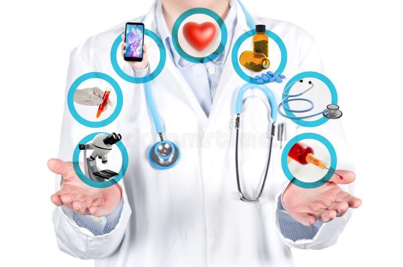 Pokazywać medycznych egzaminy i procedury fotografia royalty free