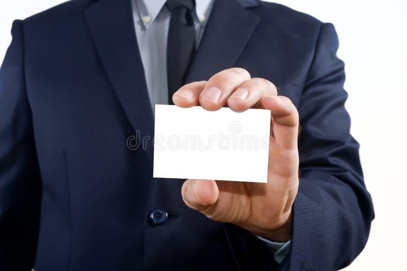 Pokazywać wizytówkę fotografia stock