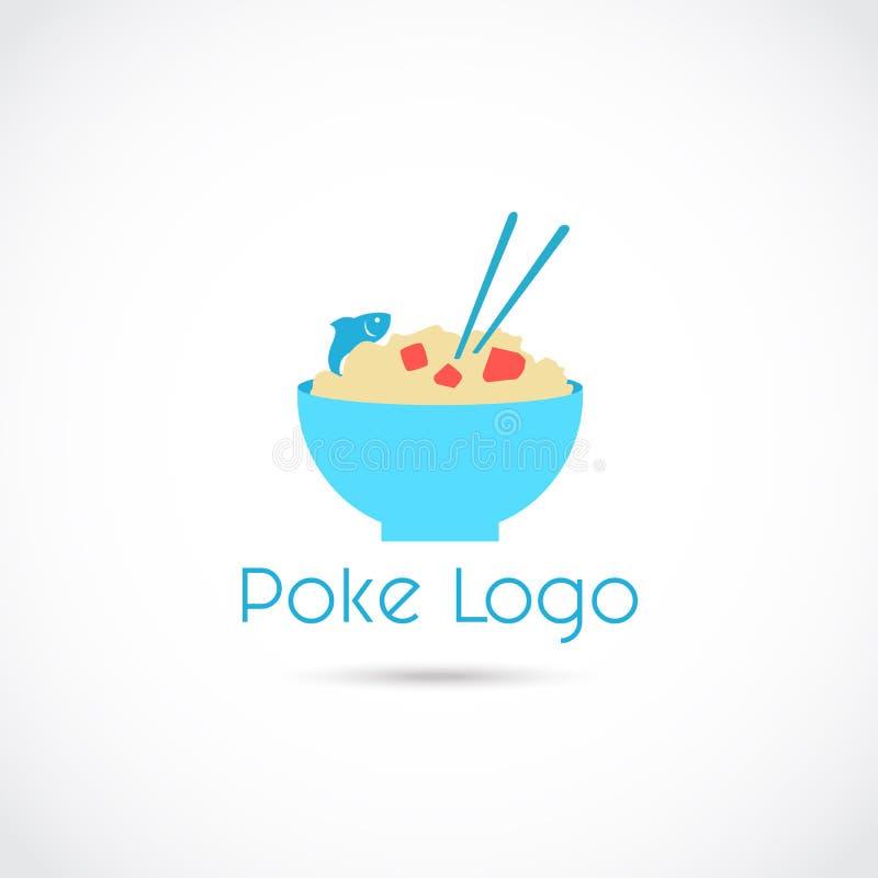 Poke Food Logo Logo Design. Vector Illustrator Eps. 10 stock illustration
