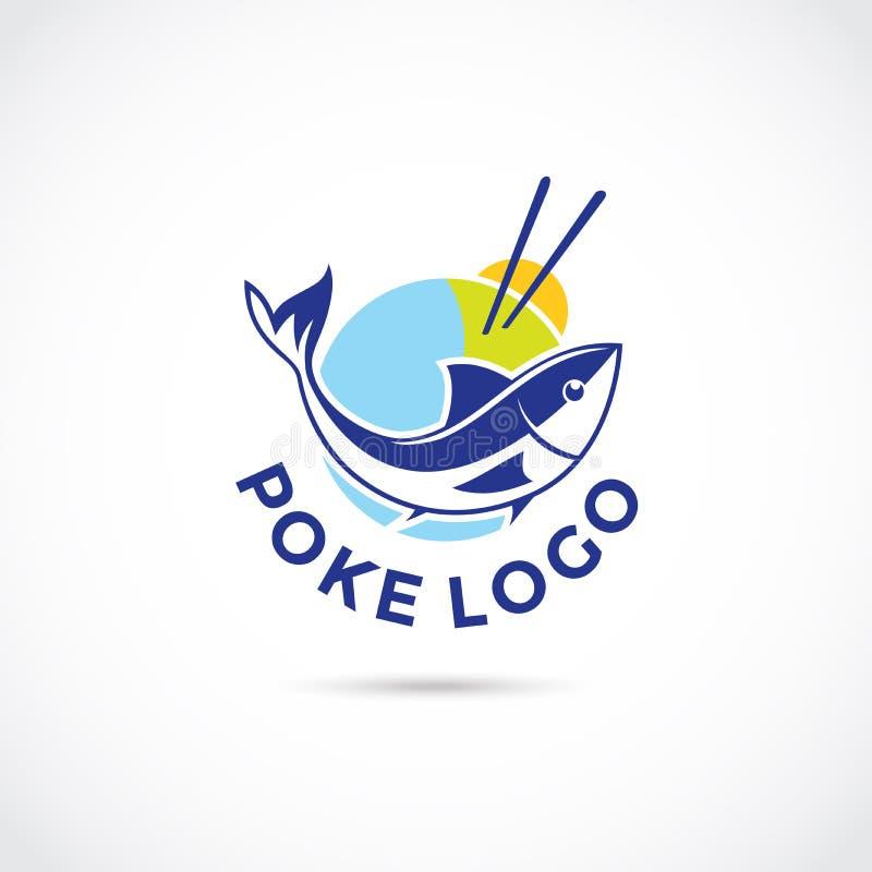 Poke Food Logo Design. Vector Illustrator Eps. 10 stock illustration