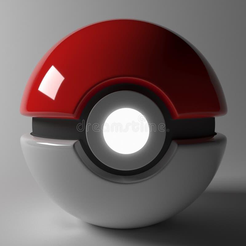 Pokeball - łapie pokemon! zdjęcie stock