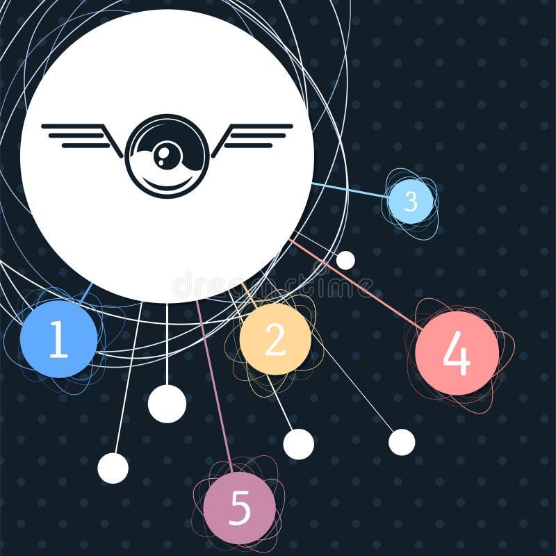 Pokeball για το παιχνίδι στο εικονίδιο παιχνιδιών με το υπόβαθρο στο σημείο και το infographic ύφος διανυσματική απεικόνιση