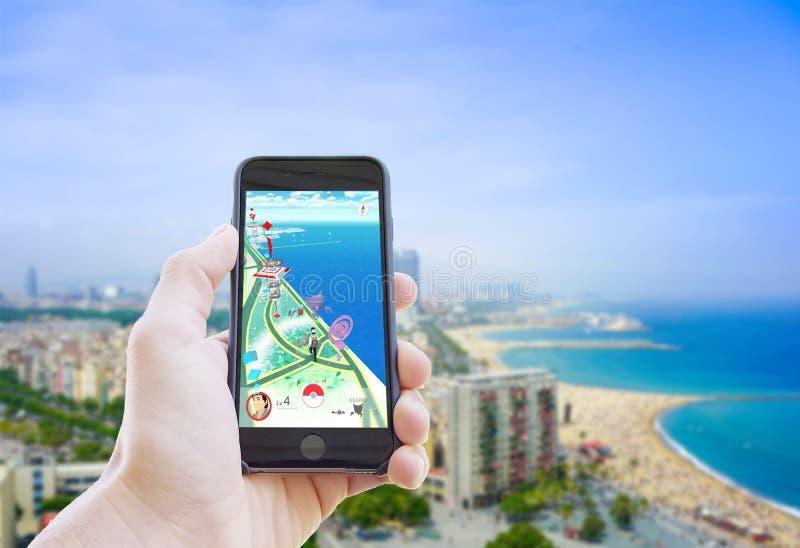 Pokemon идет app стоковая фотография