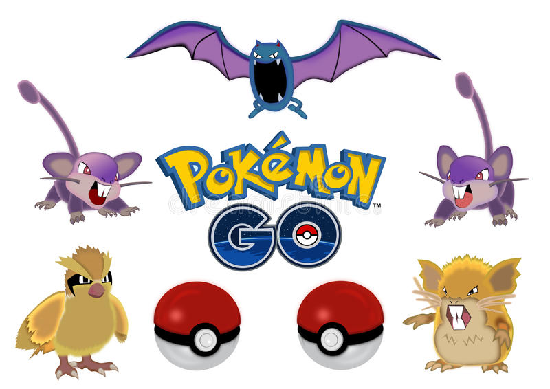 Pokemon gaat royalty-vrije illustratie
