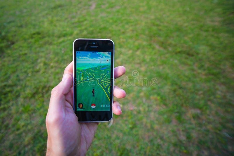 Pokemon gaat app stock afbeeldingen