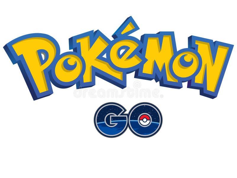 Pokemon gehen Logo stock abbildung