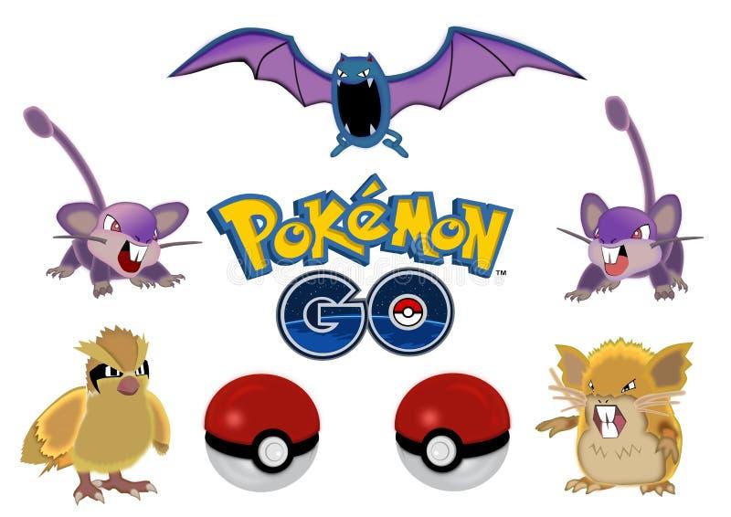 Pokemon go royalty free illustration
