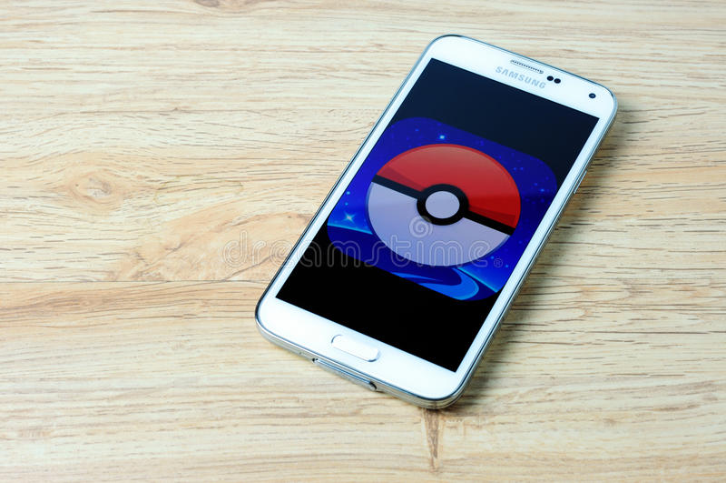 Pokemon Go logo stock photography