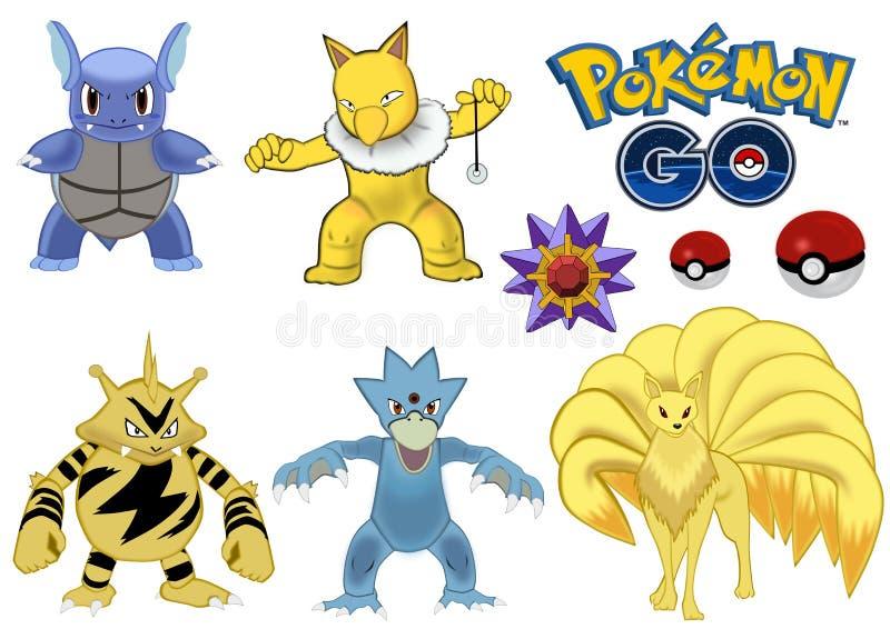 Pokemon go vector illustration