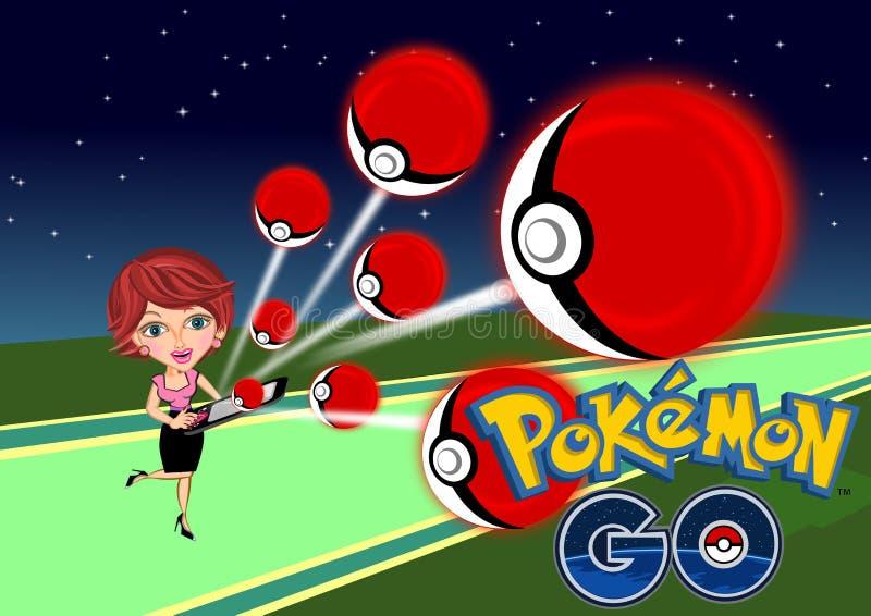 Pokemon Iść ilustracja wektor