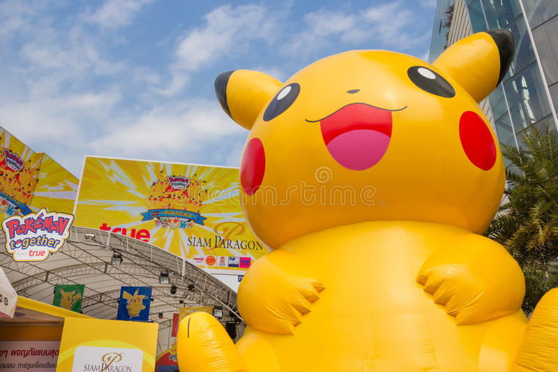 Pokemon Together in Bangkok,thailand stock images
