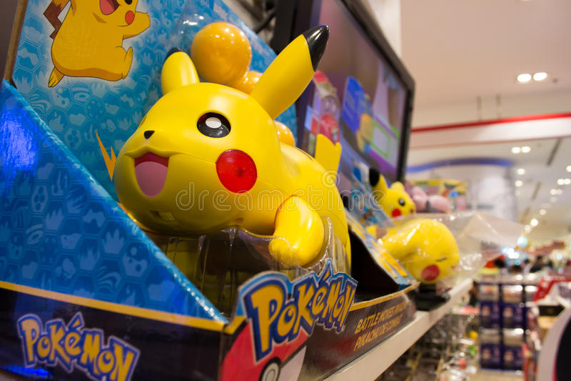 Pokemon Toys. Bangkok, Thailand - July 14, 2016 : Pokemon toys are on the shelf royalty free stock photo