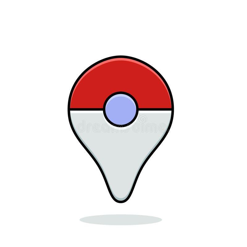 Pokemon vont plus le dispositif portable illustration libre de droits