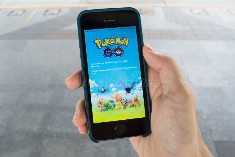 Pokemongo's de servers zijn neer stock foto's