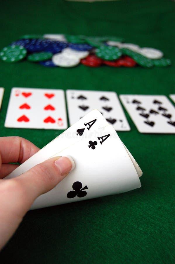 Pokeröverdängare arkivfoto