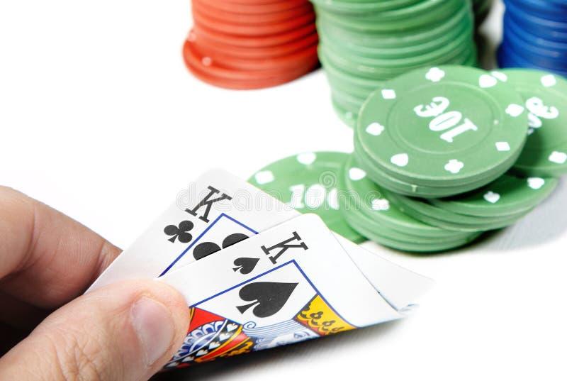 poker royaltyfria bilder