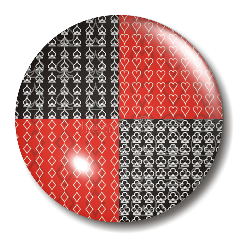 Free Poker 4 Card Suit Button Orb Royalty Free Stock Images - 1097789