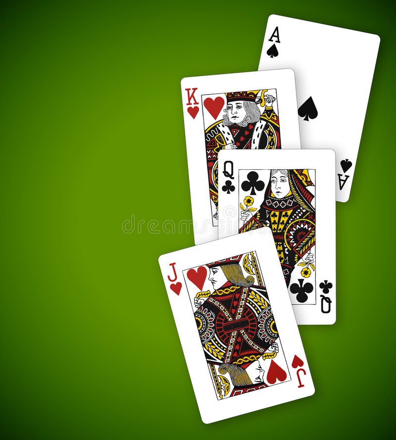 poker vektor illustrationer