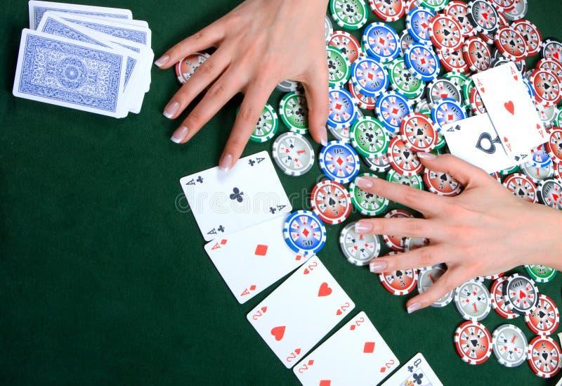 poker arkivfoto