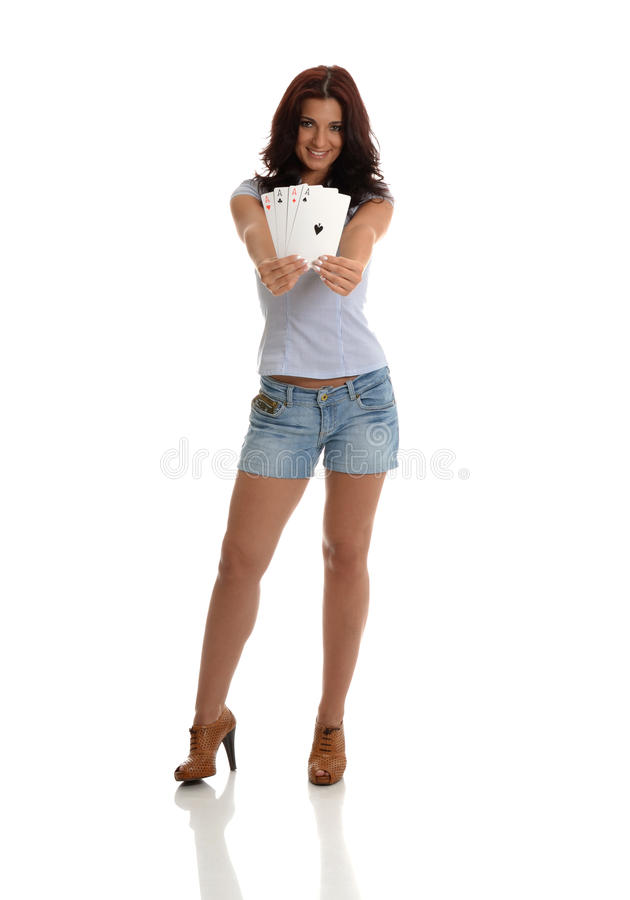 Download Poker of Aces stock photo. Image of diamonds, jeans, standing - 26703274