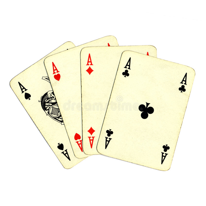 Poker of aces cards stock photo