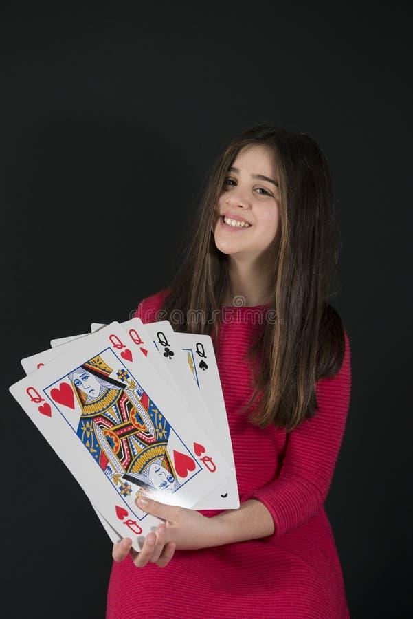 Poker av Queens royaltyfri bild