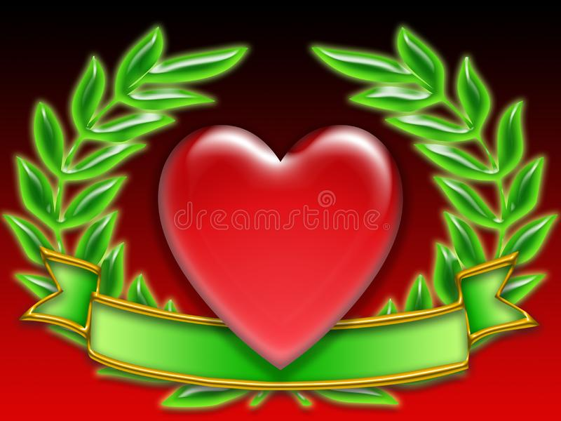 Poker banner hearts