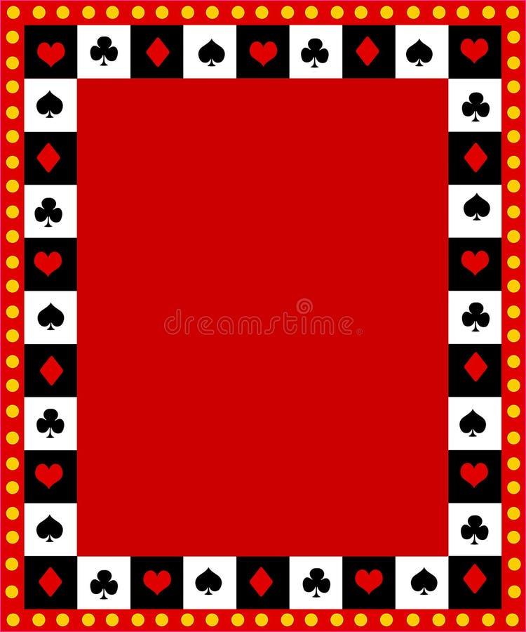 Poker border / frame royalty free illustration
