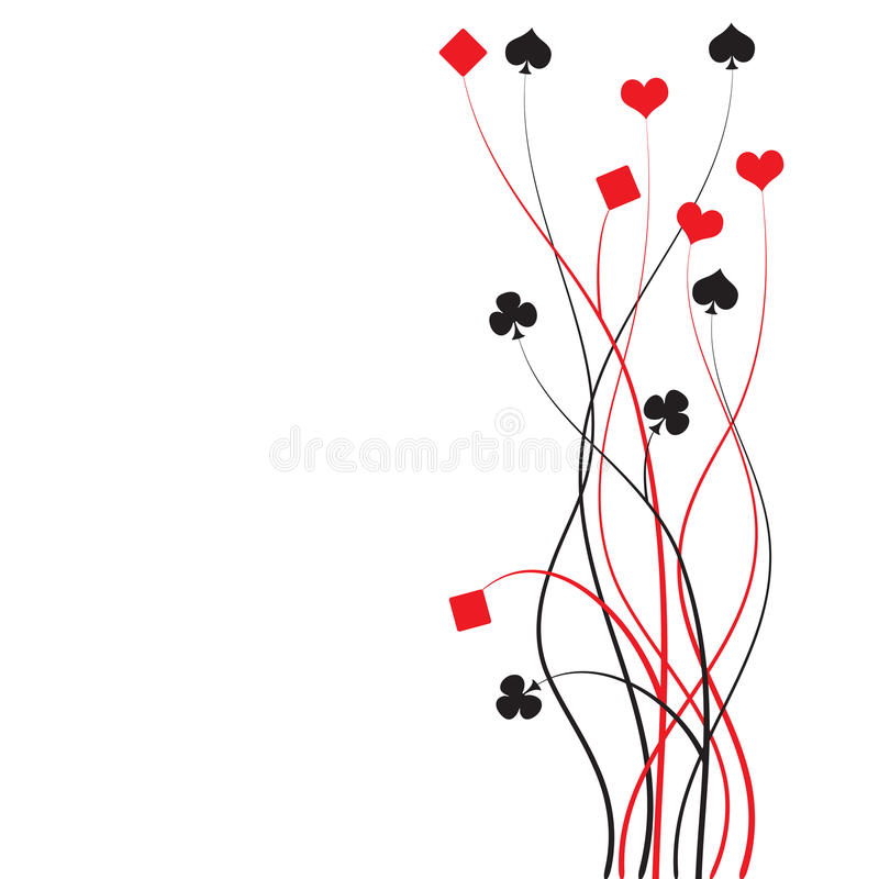 Poker, bridge - card game royalty free illustration