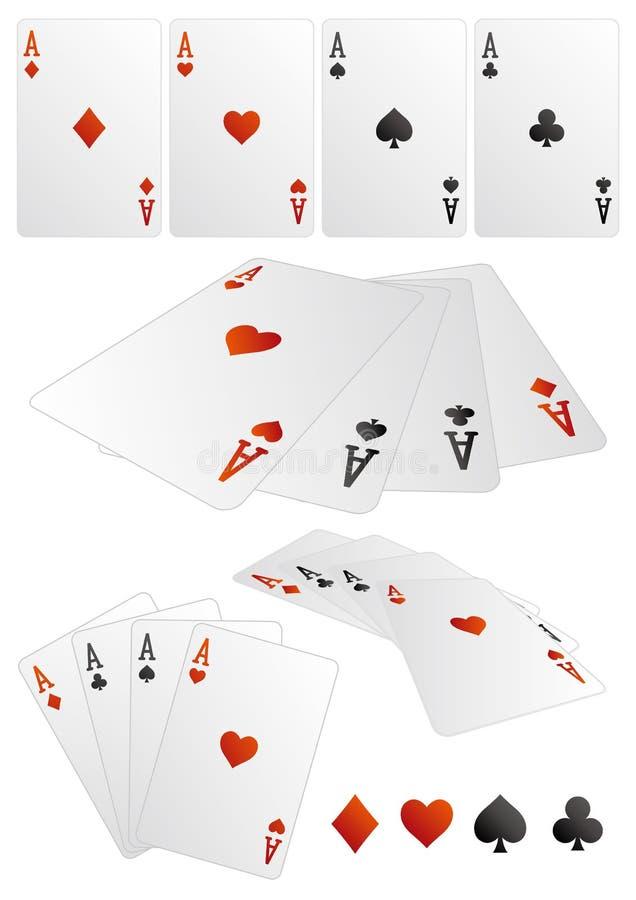 poker card royalty free illustration