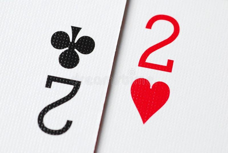 Poker Card 2. Macro poker card two background royalty free stock photo