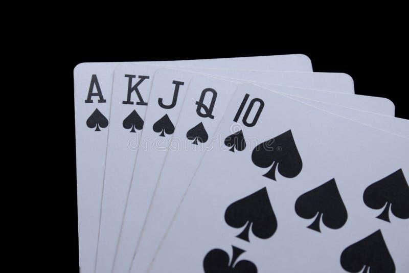 Poker cards stock image