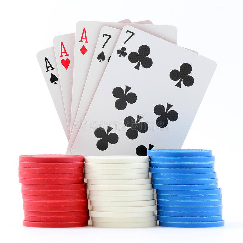 Download Poker Cards and Chips stock photo. Image of blue, pile - 18633874