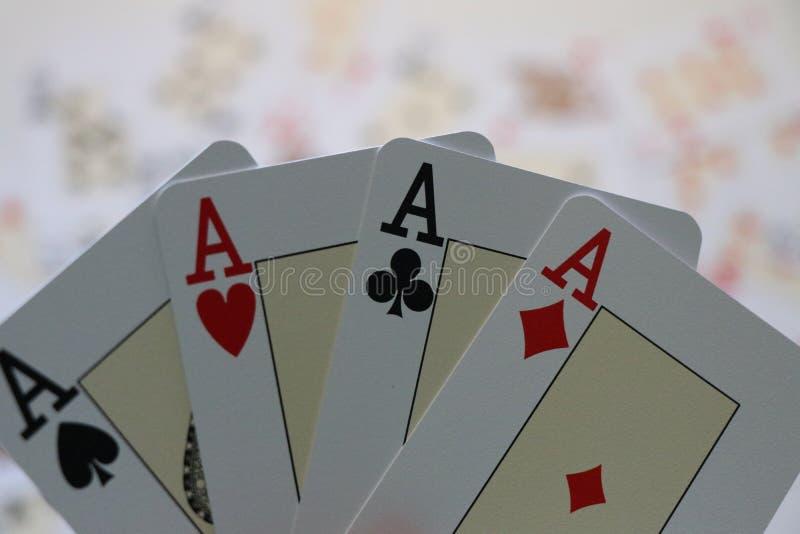 Poker cards game. stock photos