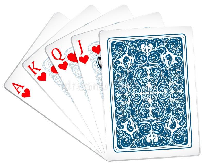 Poker cards royalty free illustration