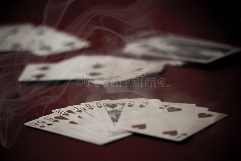 Poker cards on the table. stock photography