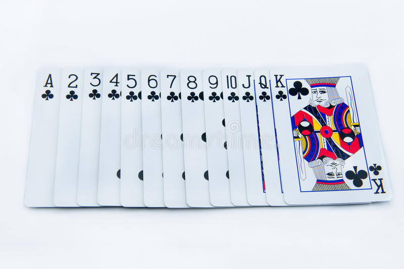 Download The Poker Cards On White Background Stock Photo - Image: 38104732