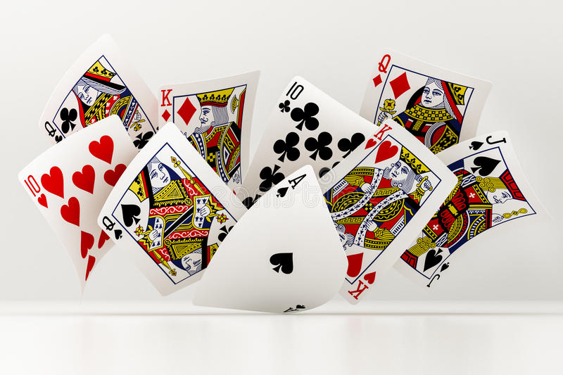 Poker cards royalty free illustration
