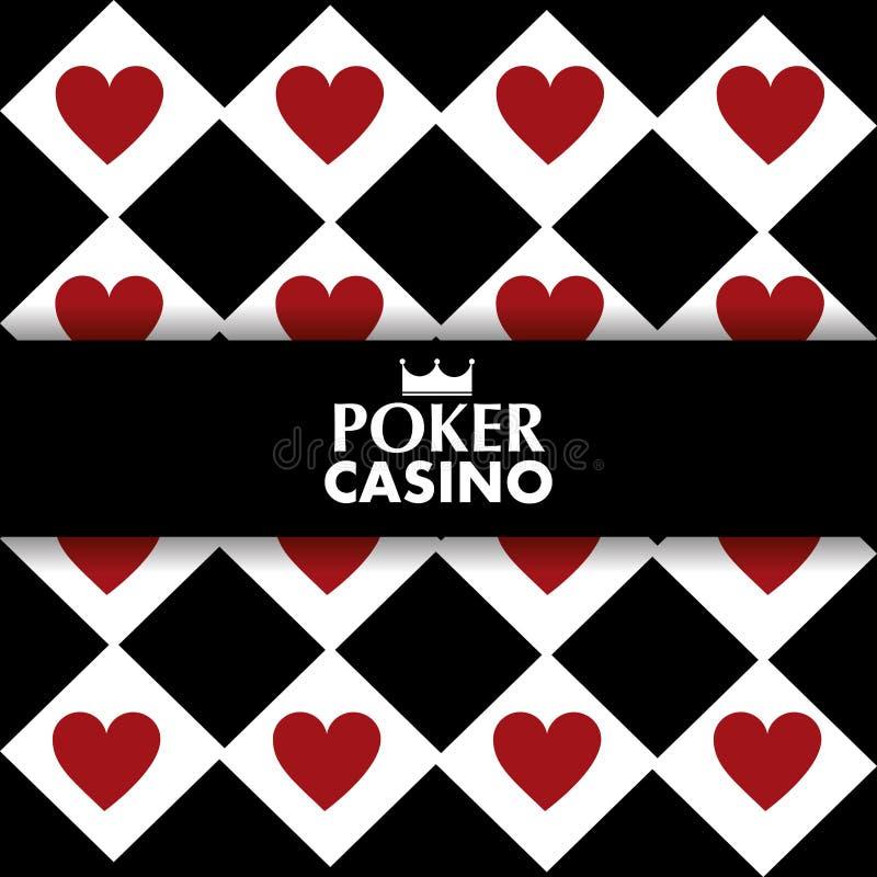 Poker casino hearts poster geometric design royalty free illustration