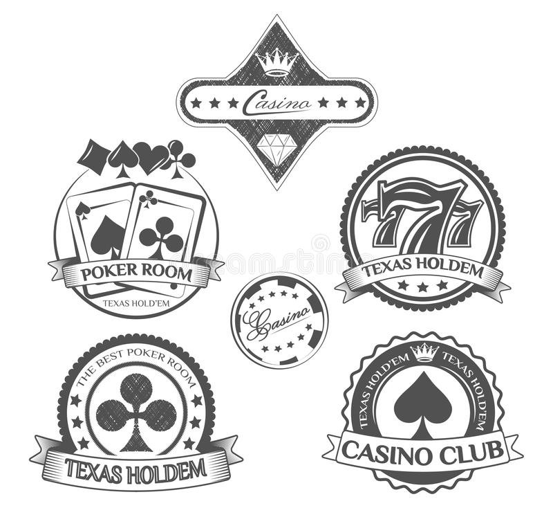 Poker and casino icons set. illustration.  stock illustration