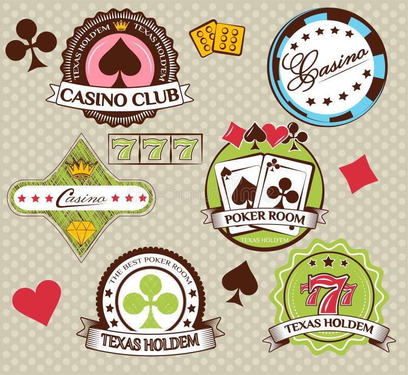 Poker and casino icons set. illustration.  vector illustration