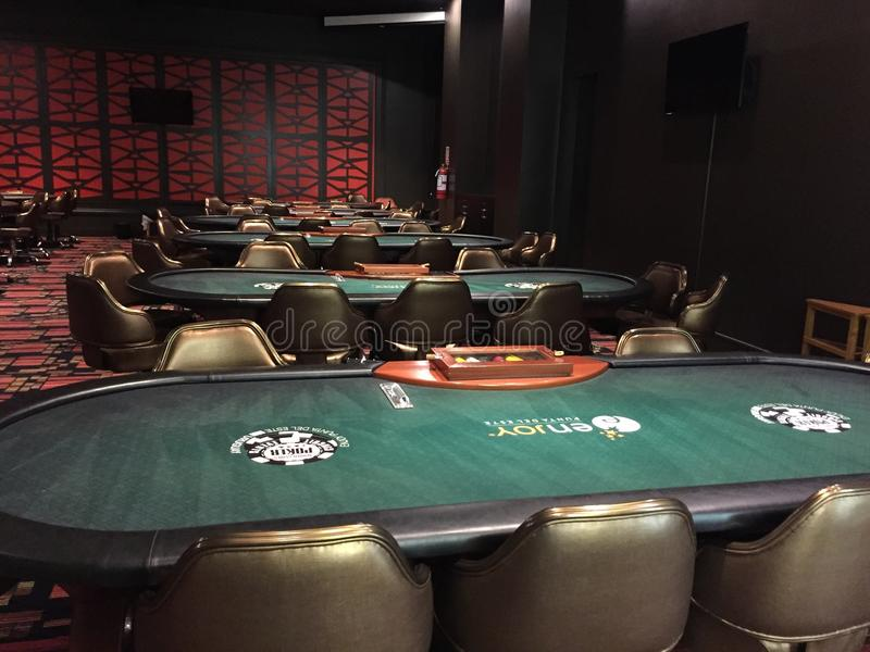 Poker championship room without players royalty free stock images
