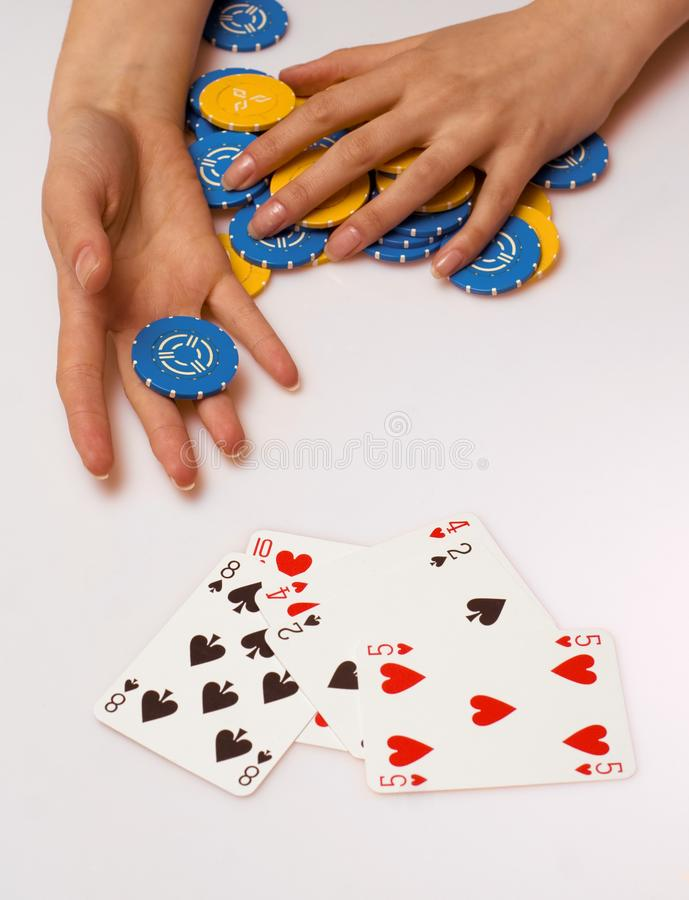 Poker charity royalty free stock image