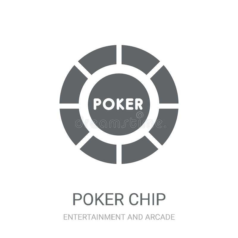 Poker chip icon. Trendy Poker chip logo concept on white background from Entertainment and Arcade collection vector illustration