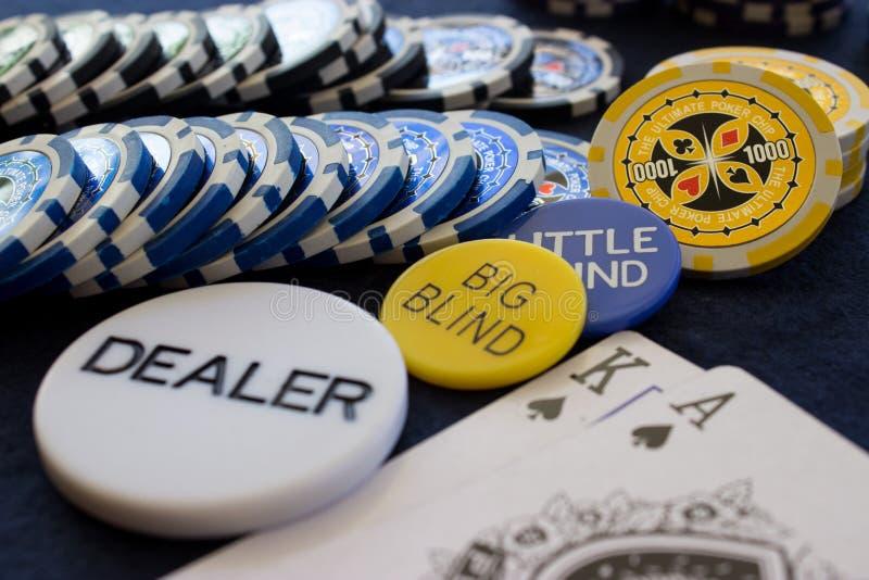 Poker Chip Scene royalty free stock photos