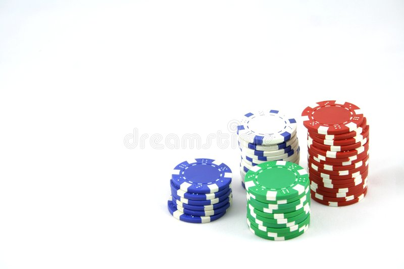Poker chips 1 royalty free stock image