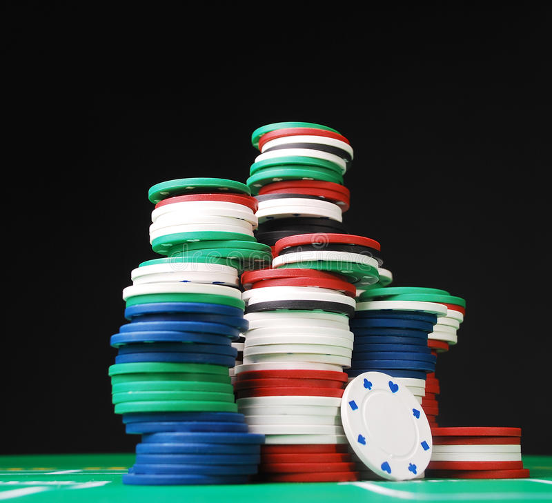 Free Poker Chips Royalty Free Stock Image - 18134876