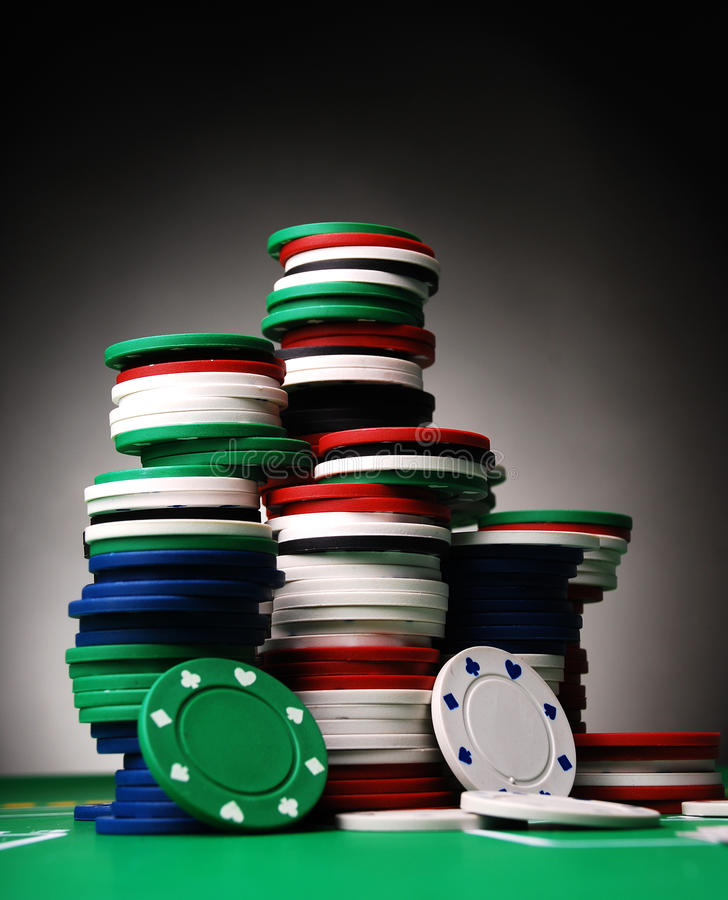 Free Poker Chips Stock Photography - 18134902
