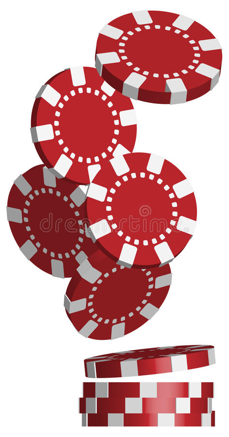 Poker Chips royalty free illustration