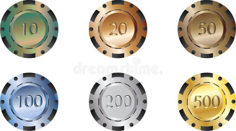Poker chips stock illustration